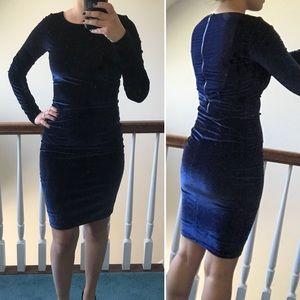Alice & Olivia Velvet Velour Navy Dress size 0